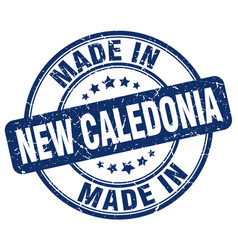 made in new caledonia blue grunge round stamp vector image vector image