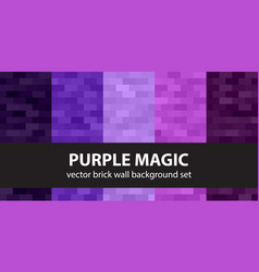 Rectangle pattern set purple magic seamless vector