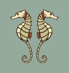 Seahorse logo icon vector