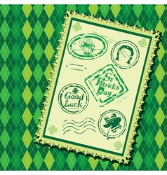 Set of Green grunge rubber stamps with Beer mug vector image vector image