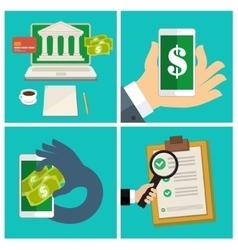 Set of Internet banking concept vector image
