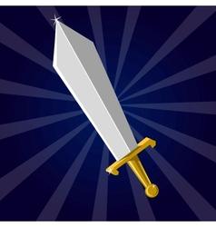 Shining sword vector