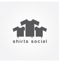 Shirts social concept design template vector