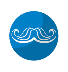 Sticker man mustahe and attractive fashion design vector