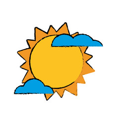 Sun cloud weater symbol vector