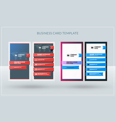Vertical double-sided creative business card vector