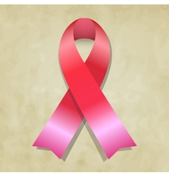 Pink ribbon vector