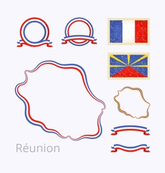 Colors of Reunion vector image