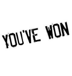 You have Won rubber stamp vector image