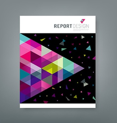 Cover report abstract triangle geometry colorful vector