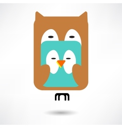 Couples of owls and birds autumn vector