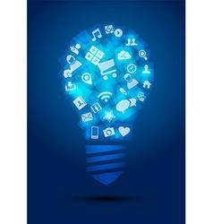 Social media idea concept light bulb vector image