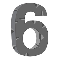 Numeral six vector