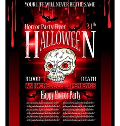 Halloween horror party flyer vector