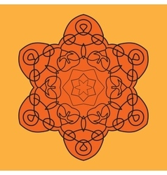 Orange mandala vector