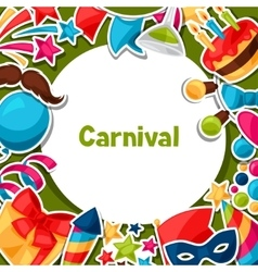 Carnival show and party greeting card with vector
