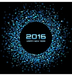 Blue bright new year 2016 background vector