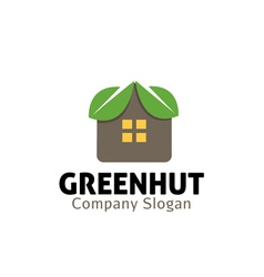 Green hut design vector