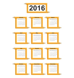 Creative education calendar 2016 year design vector