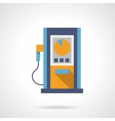 Fuel station flat color design icon vector