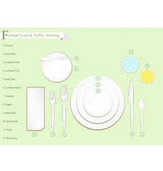 Detailed of lunch table setting vector