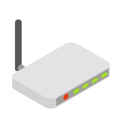 Router icon cartoon style vector