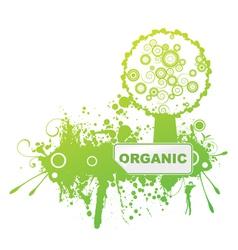 bio sticker with grunge background vector image