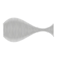 Musical waves isolated icon design vector