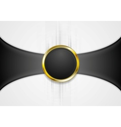 Abstract background with golden circle shape vector