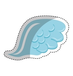 Angel wing isolated icon vector