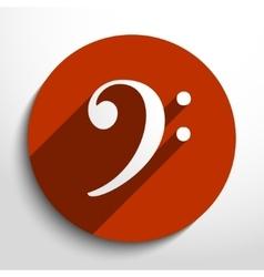 bass key web icon vector image