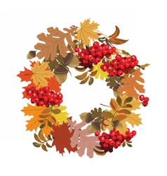 Beautiful autumnal frame with decorations vector image