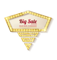 Big sale retro light frame vector