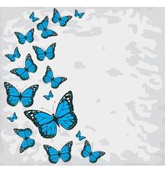 butterflies blue vector image vector image