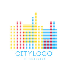 city logo original design abstract geometric vector image vector image