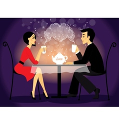 Dating couple scene love confession vector image vector image