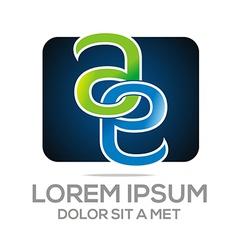 Design alphabet ae lettermark business company vector