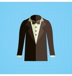 elegant suit design vector image