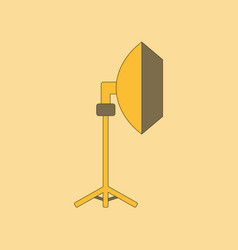 Flat icon on background professional lighting vector