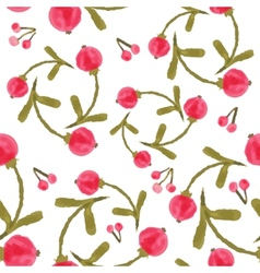 Handpaint watercolor seamless pattern vector image vector image