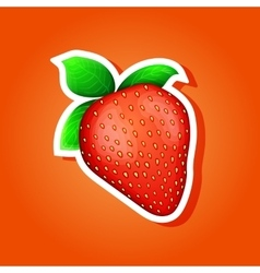 Icon strawberry strawberry sticker vector image