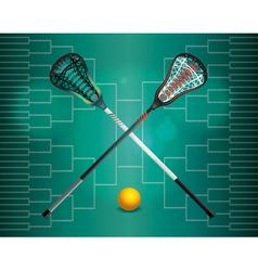 Lacrosse tourney bracket vector