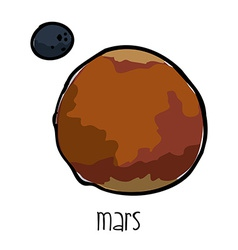 mars drawn vector image