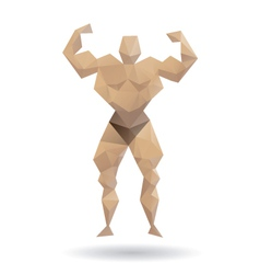 Muscle man abstract vector image