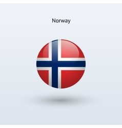 Norway round flag vector