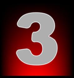 Number 3 sign design template element postage vector