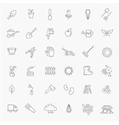 Outline icon collection - Flower and Gardening vector image vector image
