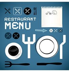 Restaurant Menu Template - Design Elements vector image