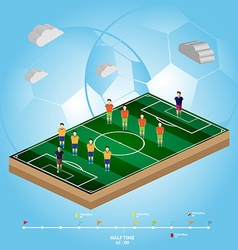 Soccer football playfield side view vector