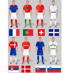 soccer world cup basket vector image vector image